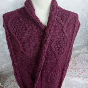 3x25 INFINITY SCARF  BURGUNDY BY FOREVER 21 B899